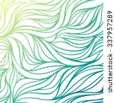 color hand drawing wave sea... | Shutterstock . vector #337957289