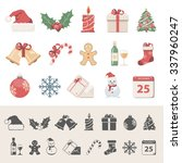 flat icons   christmas | Shutterstock .eps vector #337960247