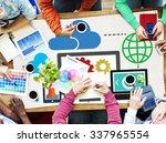 cloud computing network online... | Shutterstock . vector #337965554