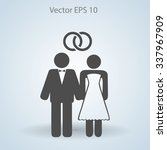 marriage vector icon | Shutterstock .eps vector #337967909
