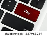 pay text on red keyboard button ... | Shutterstock . vector #337968269
