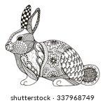 Rabbit Zentangle Stylized ...