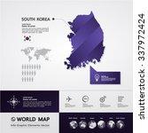 south korea map | Shutterstock .eps vector #337972424