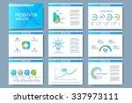 blue set of vector templates... | Shutterstock .eps vector #337973111