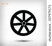 wheel disks icons | Shutterstock .eps vector #337979171