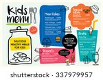 cute colorful kids meal menu... | Shutterstock .eps vector #337979957