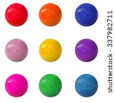 Collection Of Spheres. Vector. 1