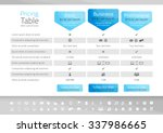 light pricing table with 3... | Shutterstock .eps vector #337986665