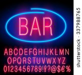 Red  Neon Alphabet Set For...