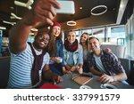 Restful Teenagers Making Selfi...
