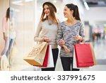 stylish girls visiting black...   Shutterstock . vector #337991675
