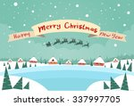 merry christmas and happy new... | Shutterstock .eps vector #337997705