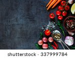 spices  herbs and fresh... | Shutterstock . vector #337999784