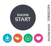 start engine sign icon. power... | Shutterstock .eps vector #338002394