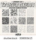 vector set of seamless patterns.... | Shutterstock .eps vector #338003615