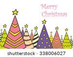 christmas tree vector... | Shutterstock .eps vector #338006027