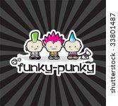 funky   punky vector... | Shutterstock .eps vector #33801487