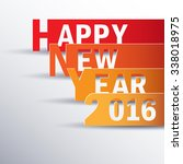 happy new 2016 year. greetings...   Shutterstock .eps vector #338018975