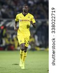 Small photo of Thessaloniki, Greece, Oct 1, 2015: Dortmund Adrian Ramos in action during the UEFA Europa League match between PAOK vs Borussia Dortmund played at Toumba Stadium