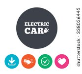 electric car sign icon.... | Shutterstock .eps vector #338026445