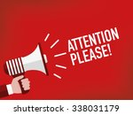 attention please  | Shutterstock .eps vector #338031179