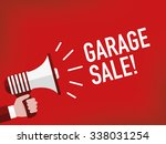 garage sale  | Shutterstock .eps vector #338031254