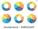 infographics with colored... | Shutterstock .eps vector #338031605