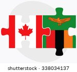 canada and zambia flags in...   Shutterstock .eps vector #338034137
