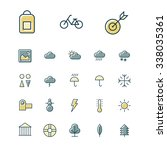 thin line icons for leisure ...