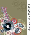 vector background for flyers... | Shutterstock .eps vector #33803995