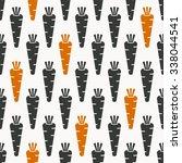 carrots seamless pattern in... | Shutterstock .eps vector #338044541
