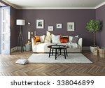 modern living room  interior.3d ... | Shutterstock . vector #338046899