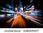 abstract cityscape traffic... | Shutterstock . vector #338049497