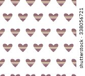 Seamless Pattern Of Hearts Wit...