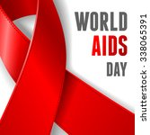 world aids day concept poster... | Shutterstock .eps vector #338065391