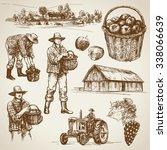 farmland  harvest on the farm | Shutterstock .eps vector #338066639