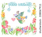 best wishes greeting card. | Shutterstock .eps vector #338067911