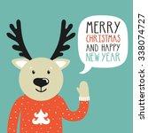 vector holiday illustration of... | Shutterstock .eps vector #338074727