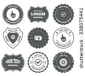 vintage emblems  labels. atm... | Shutterstock . vector #338075441