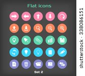 round flat icon set 2 in color...