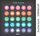 round flat icon set 1 in color...