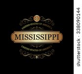 mississippi usa state.vintage... | Shutterstock .eps vector #338090144