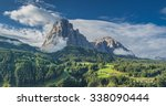 sassolungo mountain massif in... | Shutterstock . vector #338090444