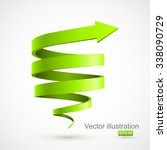 green spiral arrow 3d. | Shutterstock .eps vector #338090729