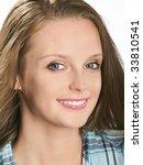 facial portrait of smiling... | Shutterstock . vector #33810541