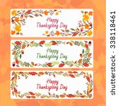 vector banners with orange... | Shutterstock .eps vector #338118461