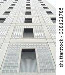 modular concrete building...   Shutterstock . vector #338121785