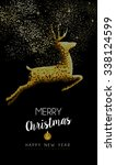 merry christmas happy new year... | Shutterstock .eps vector #338124599