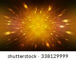 abstract orange fractal... | Shutterstock . vector #338129999