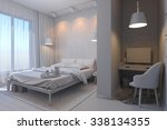 3d render of bedrooms in a... | Shutterstock . vector #338134355